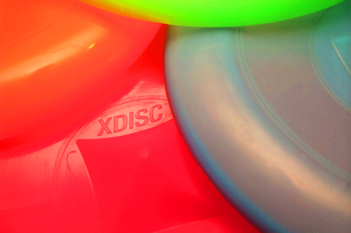 A group of colorful XDISCs